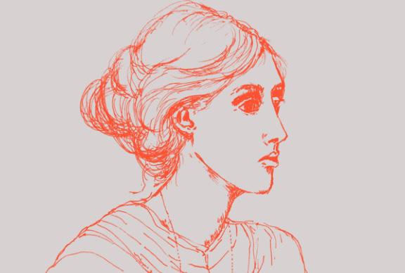 Ilustração Virginia Woolf   © Marcia Tiburi