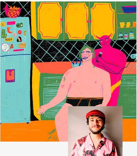 O Sebastian Santafe Ayala foi reconhecido pelo júri como o ganhador da edição de 2020 e ilustrará a capa do Catálogo que será lançado na Feira do Livro de Guadalajara