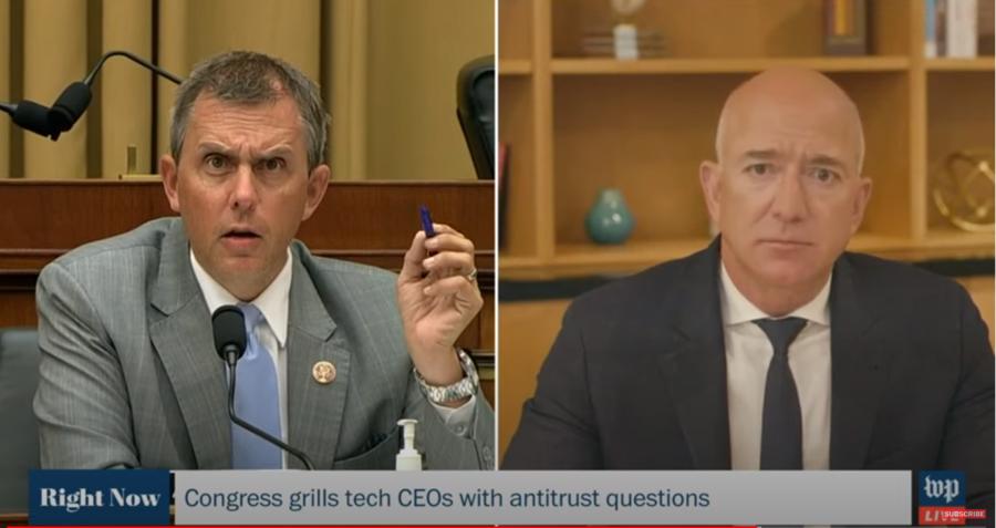 Deputado Kelly Armstrong questiona Jeff Bezos | Reprodução