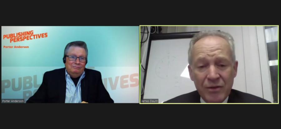 Porter Andersen entrevista James Daunt dentro da programação virtual da Feira do Livro de Frankfurt