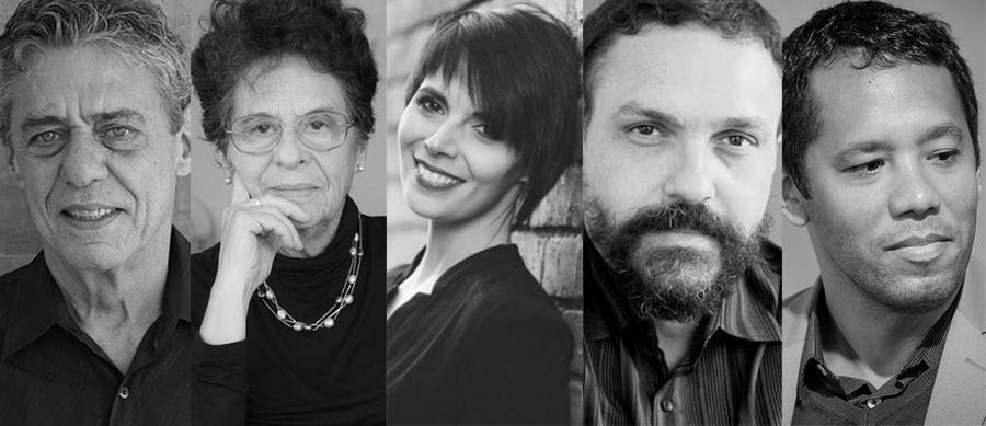 Chico Buarque, Maria Valeria Rezende, Adriana Lisboa, Paulo Scott e Itamar Vieira são os cinco finalistas em Romance | © Rodolfo Athayde / Julie Harris