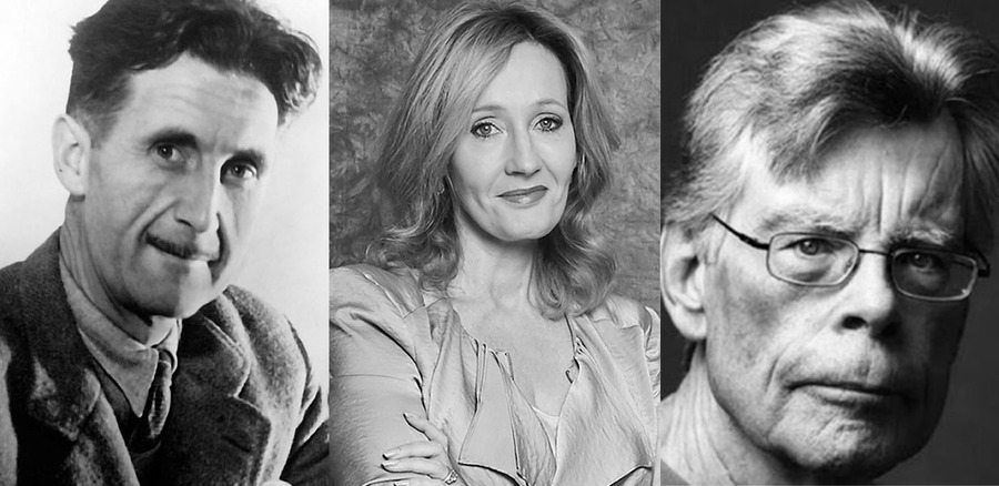 George Orwell, J. K. Rowling e Stephen King | © BBC / Debra Hurford Brown