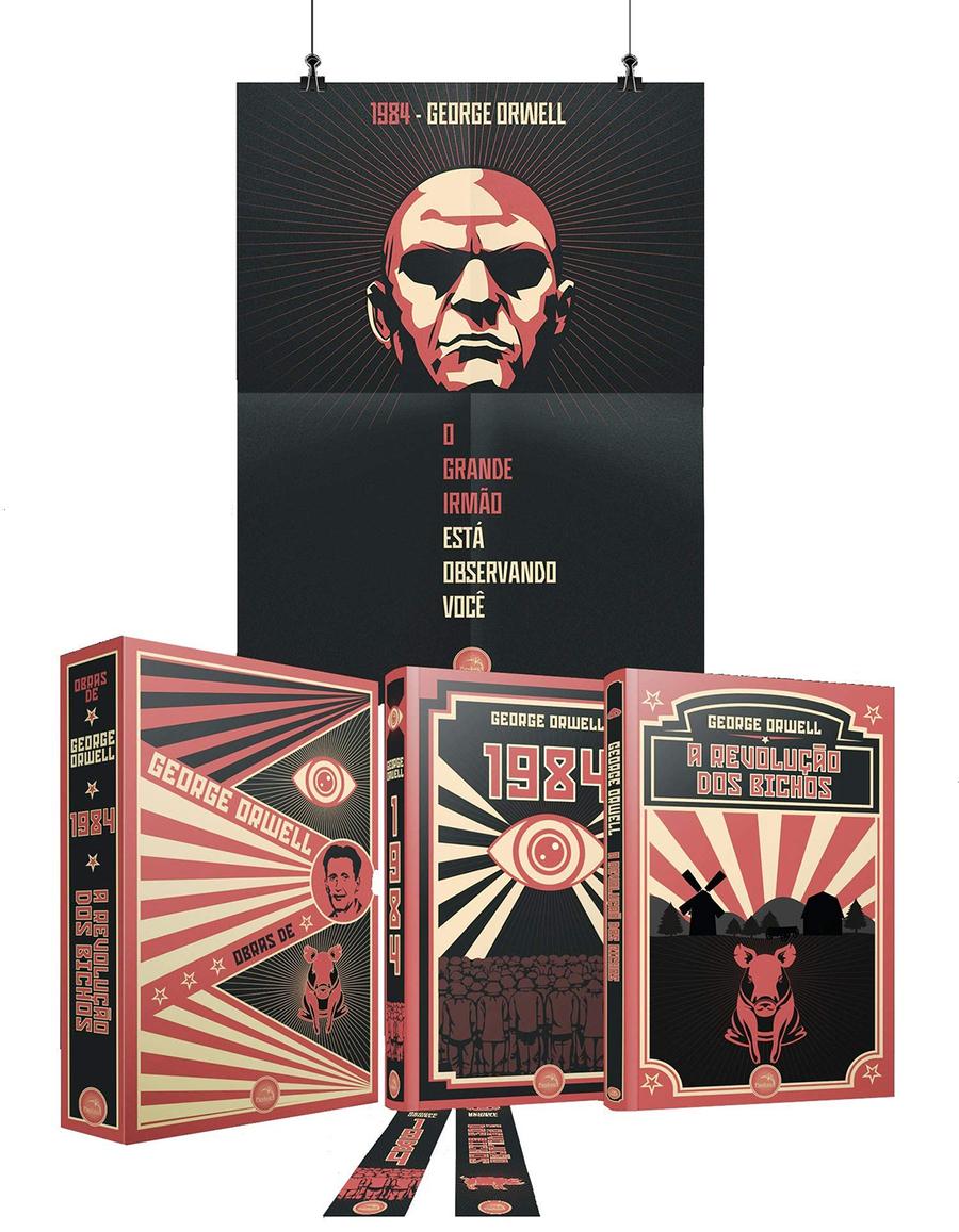 Box de George Orwell pela Pandorga | Reprodução