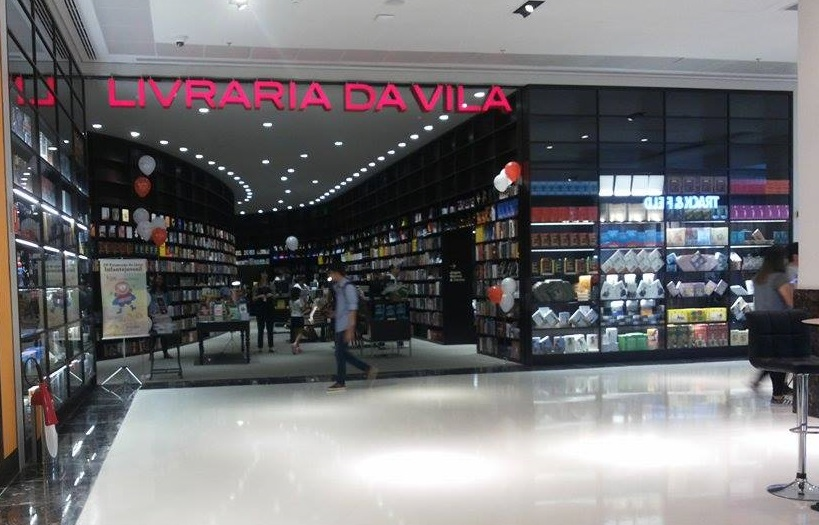 Fachada da unidade da Livraria da Vila aberta no Shopping Maia em 2015 | © Telma Kobori