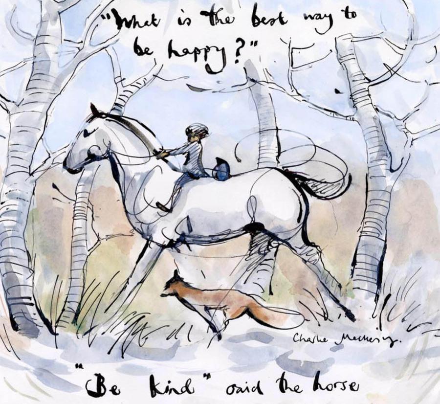 Imagem do livro 'O menino, a toupeira, a raposa e o cavalo'   © Charlie Mackesy / Redes Sociais