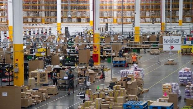 Centro de distribuição da Amazon em janeiro de 2019 | © Julio Vilela / Divulgação
