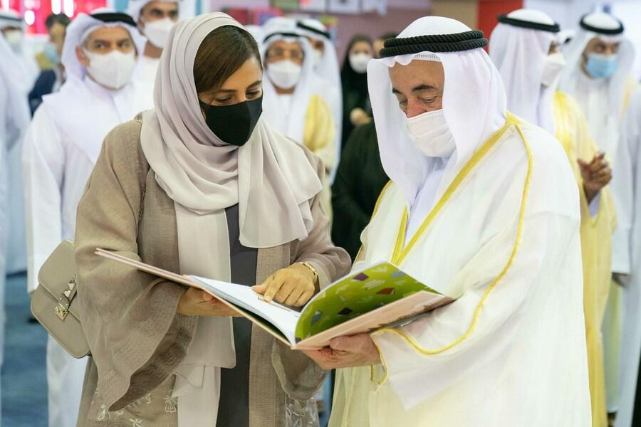 Bodour e seu pai, o sheik Sultan Al Qasimi, na abertura do Festival | © Divulgação