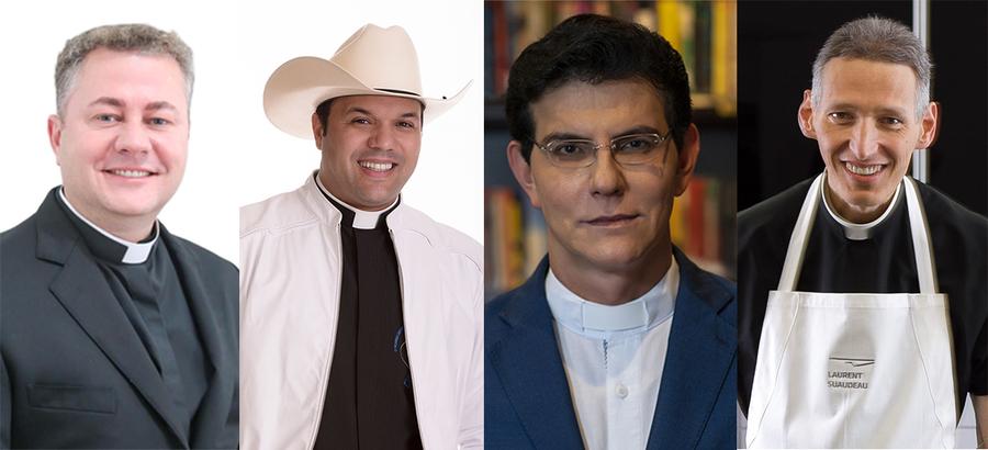 Os padres Mario José Raimondi, Alessandro Campos, Reginaldo Manzotti e Marcelo Rossi venderam, juntos, 5.574 exemplares nessa semana