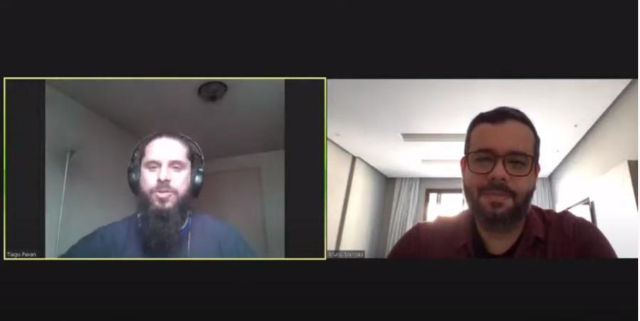 Tiago Pavan e Bruno Mendes participaram do webinar