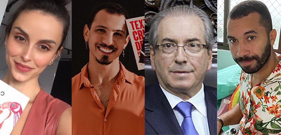 Aline Bei, Igor Pires, Eduardo Cunha e Gil do Vigor   © Divulgação