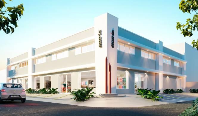 Croqui digital da fachada da nova loja da Escariz que será inaugurada em novembro | Reprodução